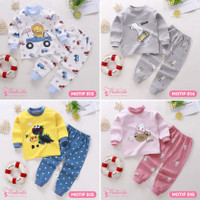 Baju Setelan Anak Bayi Tangan Panjang Lucu Cute Laki Perempuan