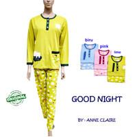 GOOD NIGHT BajuTidur / Piyama Wanita Lgn Pjg Anne Claire Original
