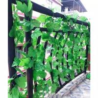 Daun Rambat Anggur Plastik Artificial Imitasi Palsu 2m Hiasan Dekorasi