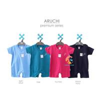 ARUCHI Premium Romper Bayi - Baju Kodok Segiempat (3-12 Bulan)