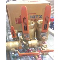 "Ball valve kitz 1 inch ; 1"" Original Kuningan / Brass"