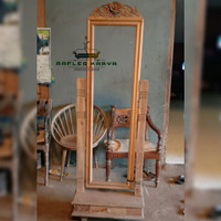 standing mirror cermin cermin goyang cermin full body cermin ukir