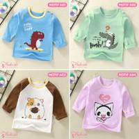 Baju Kaos Anak Bayi Tangan Panjang Lucu Import Laki Perempuan