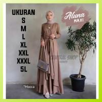 Baju Gamis Maxi Dress Wanita Muslim Murah Polos Jumbo Terbaru Pesta