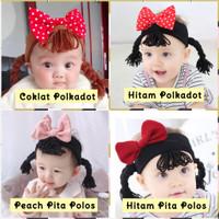 Bandana Bayi Newborn / Rambut Palsu Anak / Headband Kain Bayi Anak