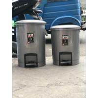 Tempat sampah injak bulet shinpo 10 liter / 15 liter