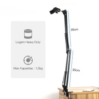 Overhead Kamera Tripod+3.3 inch HP Holder Arm Cantilever Stand S86