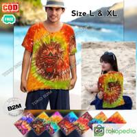 Baju Barong Pelangi Kaos Barong Abstrak Size L XL Pria & Wanita