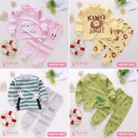 Baju Tidur Setelan Anak Bayi Tangan Panjang Lucu Import Laki Perempuan