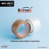 Borneo OPP Lakban Bening / Coklat 45 mm x 40 Yard