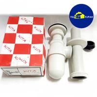SIFON BOTOL AFUR AVUR PVC Wastafel Air Plastik 11/4 1.25inch - KITA