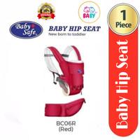 Baby Safe Baby Hip New Born To Toddler Gendongan Bayi BC06 - Red #03