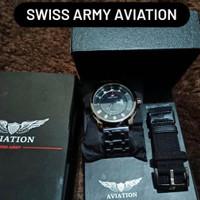 jam tangan swiss army aviation pria ori