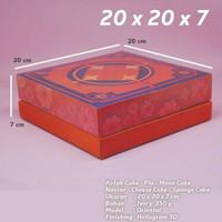 BOX KOTAK KUE IMLEK CNY KUE LAPIS BOLU MOONCAKE PIA CHEESE CAKE 20X20