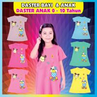 dress anak perempuan 0-10 tahun tsum-tsum aneka warna / daster anak - Ungu, S
