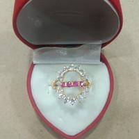 cincin angka 8 mata merah putih 2 gram emas muda