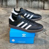 Sepatu Adidas Gazelle II Black white Sol gum original Made in Indonesi