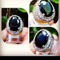 cincin batu Black onyx cutting