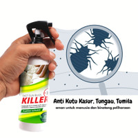 Spray Anti Kutu Busuk Kasur, Kecoa, Semut, Tungau