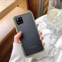 Casing Samsung Galaxy A12 A 12 Hard Soft Case Doff Hardcase Back Cover