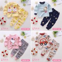 Baju Kaos Setelan Anak Bayi Tangan Panjang Lucu Cute Laki Perempuan