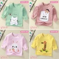 Baju Kaos Anak Bayi Lengan Panjang Lucu Cute Import Laki Perempuan