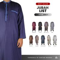 Baju Jubah Gamis Pria Ikhwan Muslim Taqwa Polos Putih Kerah Shanghai