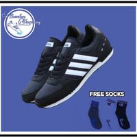 Sepatu adidas neo city racer black list white Original - sepati pria