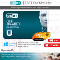 ESET File Security Antivirus ORIGINAL - 1 Server / 1 Tahun