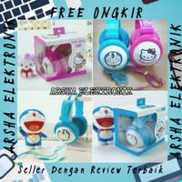 Headphone Karakter Bando Doraemon Hello Kitty / Headset Anak Belajar