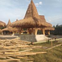 #ahli gazebo bambu atap Alang Alang harga per m2