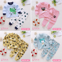 Baju Setelan Anak Bayi Tangan Panjang Lucu Cute Import Laki Perempuan