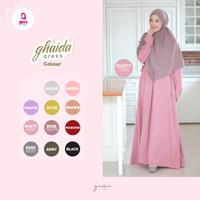 Ghaida dress dari gimi hijab bahan kualitas premium adem dan nyaman