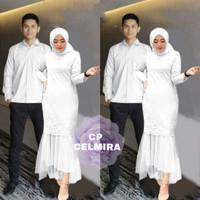 COUPLE CELMIRA PUTIH [Baju Couple 0121] UAQ Baju Gamis