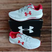 Sepatu Running Under Armour Micro G Pursuit BP men white red ORIGINAL