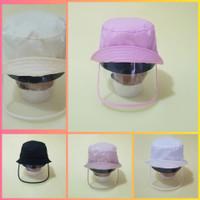 Topi Face shield bayi anak / Bucket hat baby kids