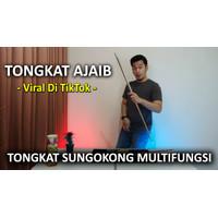 Alat Sulap | Tongkat Viral Tiktok |Tongkat WuKong |Appearing Cane Besi