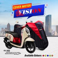 TERMURAH Cover sarung motor Scoopy Penutup Pelindung Motor Scoopy - Kuning