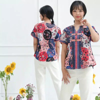 Maryn Cheongsam Blouse Baju Wanita Imlek Chinese New Year - 5985