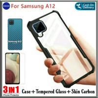 Case Samsung Galaxy A12 Soft Hard Tpu HD Transparan Casing Cover