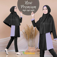 Baju Renang Wanita Perempuan Muslim Muslimah Premium Aghnisan (S - XL)