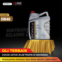 Oli Mobil Terbaik 9 Circle 5W40 100% Synthetic Super Revolution