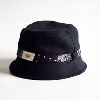 Bucket Hat Black Bandana