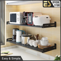 ES Stainless steel rak gantung dapur rak serbaguna rak dinding