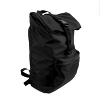 rolltop backpack hitam anti air ready stock