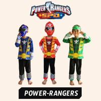 Baju Kostum Superhero Anak Power Rangers Setelan Powerangers Superhero