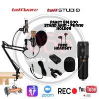 Paket Mic/ Microphone BM 800 Stand arm + Holder HP