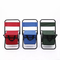 bangku lipat portable kursi outdoor kursi mancing camping - Hijau-45cmx28cm