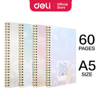 Deli Buku teks dengan ujung bentuk Spiral A5 60 halaman 4 pola LA560