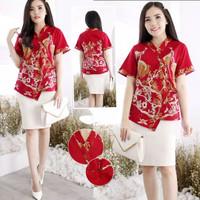 BM - Sharona Top Baju Blouse Wanita Imlek CNY Edition CVE